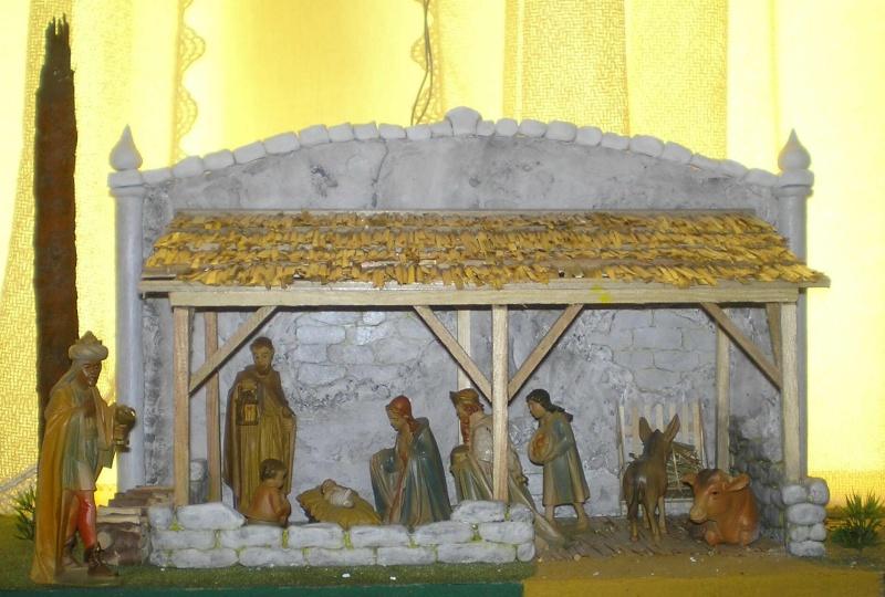 Krippen-Diorama zur Figurengröße 16 cm 003a9e11