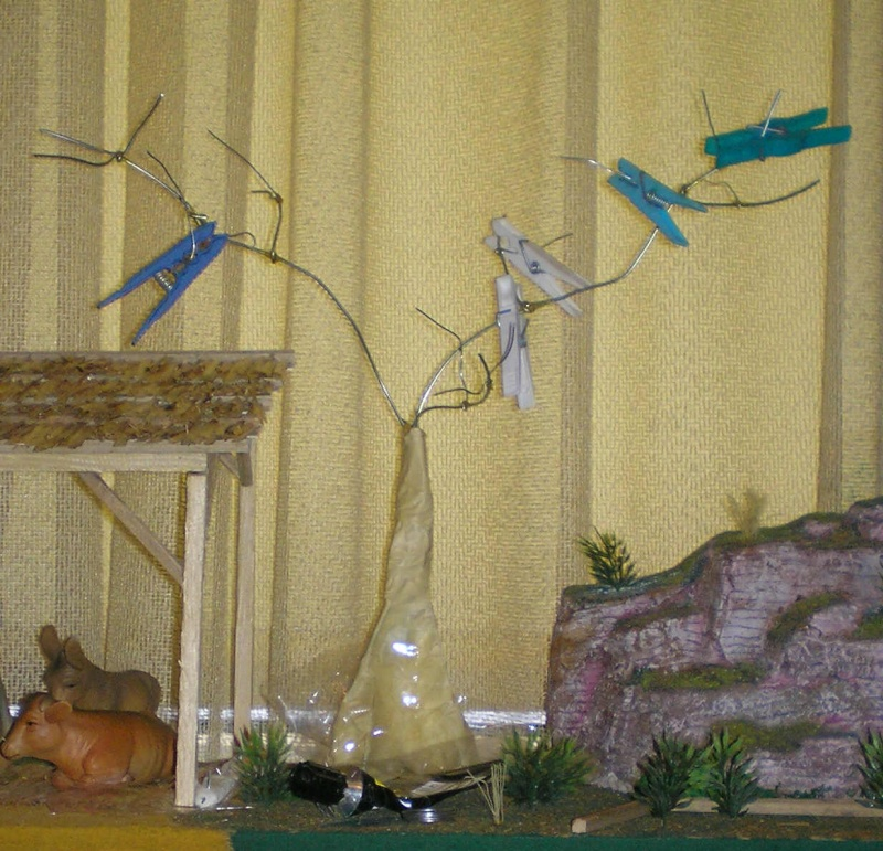 Krippen-Diorama zur Figurengröße 16 cm 005a6a10