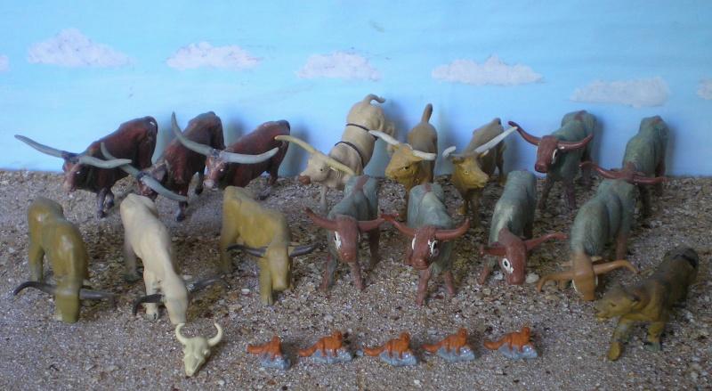 Bemalungen, Umbauten, Modellierungen - neue Tiere für meine Dioramen 20150511