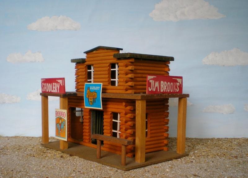 Wildwest-Gebäude aus Holz für Figuren von 54 bis 70 mm Elasto40