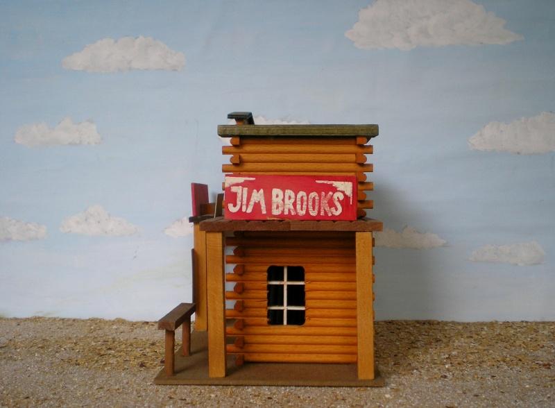 Wildwest-Gebäude aus Holz für Figuren von 54 bis 70 mm Elasto41