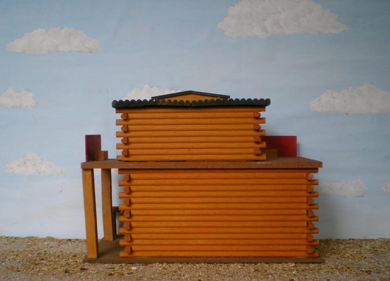 Wildwest-Gebäude aus Holz für Figuren von 54 bis 70 mm Elasto43