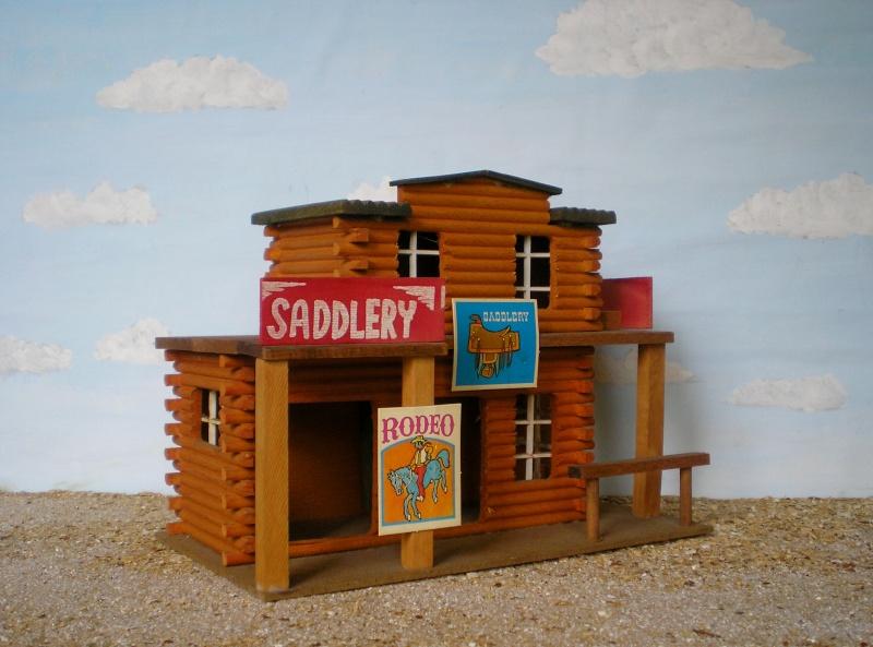 Wildwest-Gebäude aus Holz für Figuren von 54 bis 70 mm Elasto46