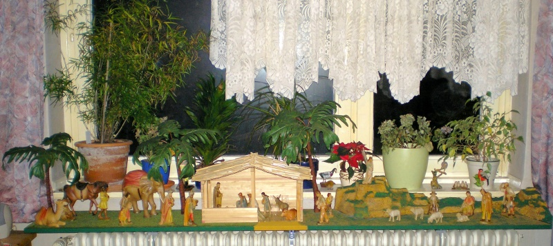 Krippen-Diorama zur Figurengröße 16 cm Krippe31