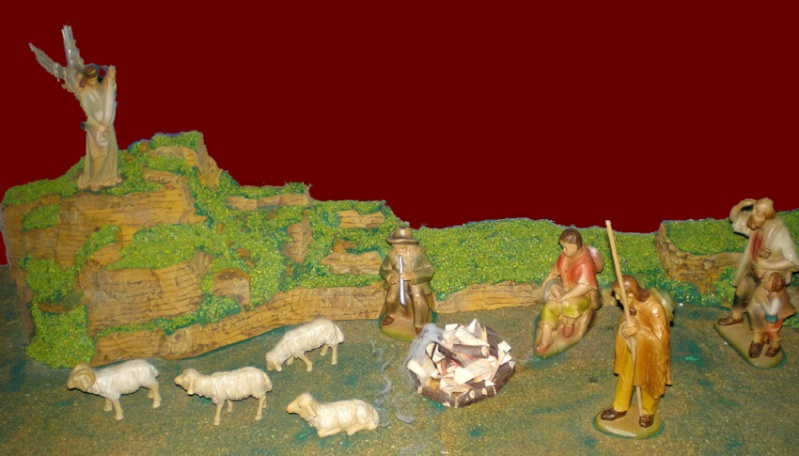 Krippen-Diorama zur Figurengröße 16 cm Krippe56