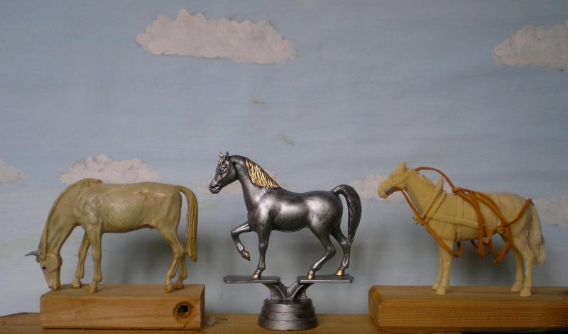 Bemalungen, Umbauten, Modellierungen - neue Tiere für meine Dioramen Pferde10