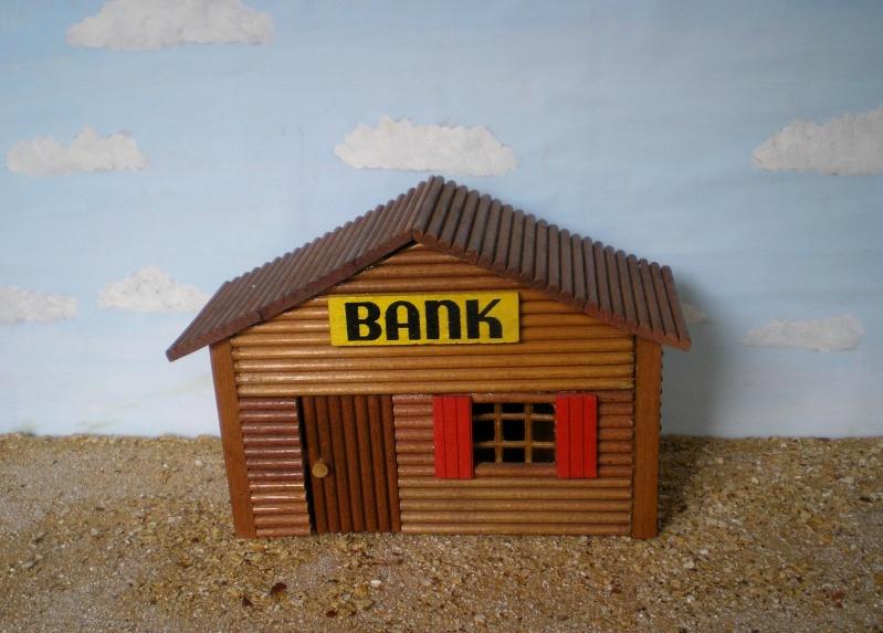 Wildwest-Gebäude aus Holz für Figuren von 54 bis 70 mm Shg_ba10