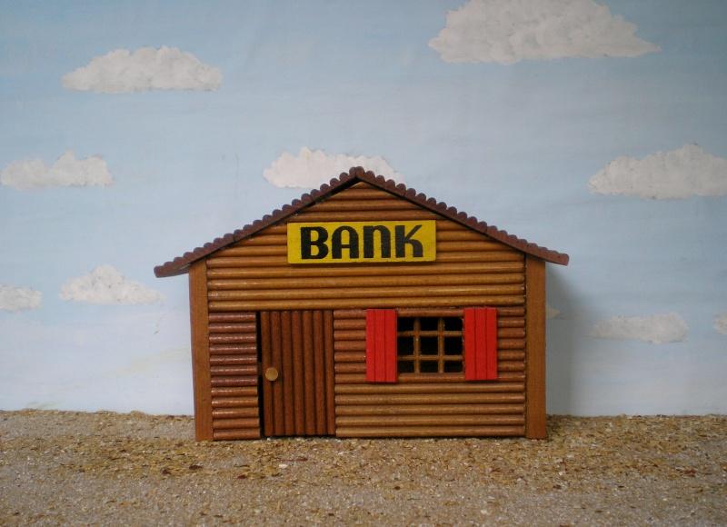 Wildwest-Gebäude aus Holz für Figuren von 54 bis 70 mm Shg_ba11