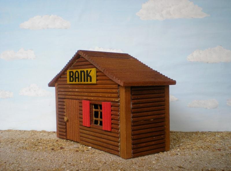 Wildwest-Gebäude aus Holz für Figuren von 54 bis 70 mm Shg_ba12
