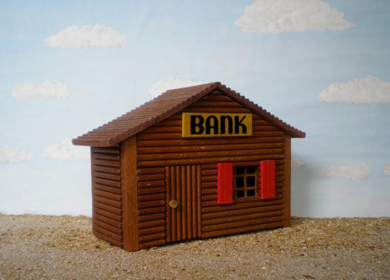Wildwest-Gebäude aus Holz für Figuren von 54 bis 70 mm Shg_ba18