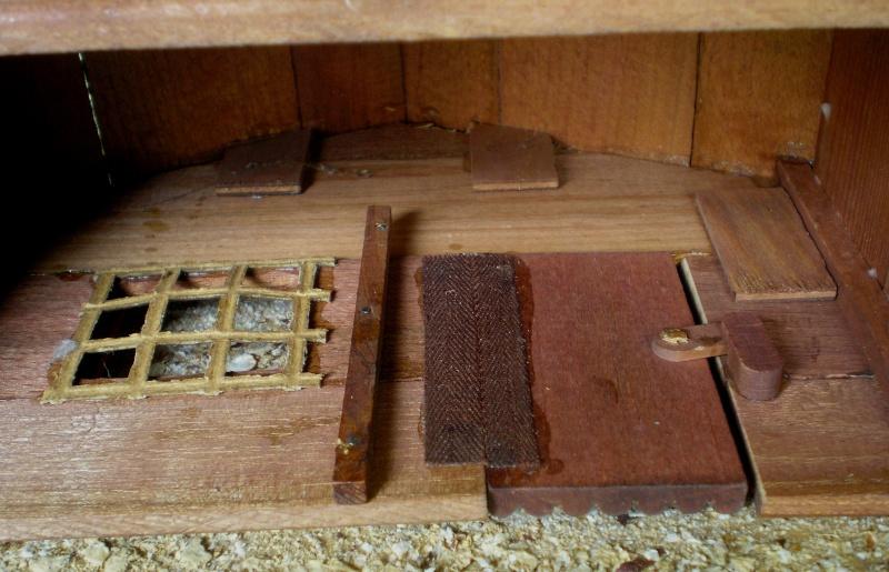 Wildwest-Gebäude aus Holz für Figuren von 54 bis 70 mm Shg_ba19