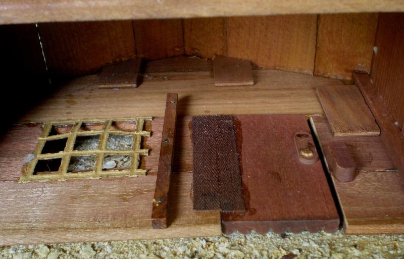 Wildwest-Gebäude aus Holz für Figuren von 54 bis 70 mm Shg_ba20