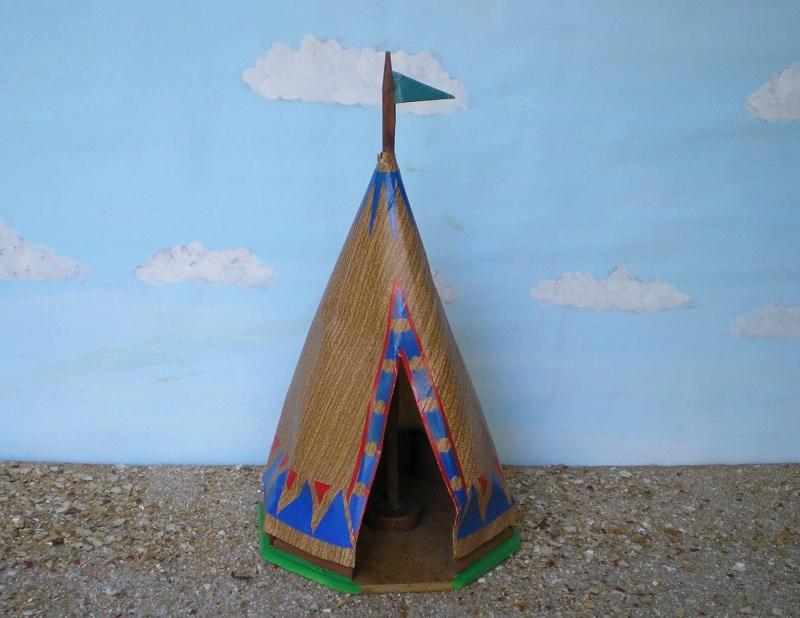 Wildwest-Gebäude aus Holz für Figuren von 54 bis 70 mm Shg_ti10