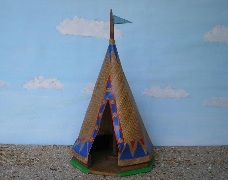 Wildwest-Gebäude aus Holz für Figuren von 54 bis 70 mm Shg_ti11
