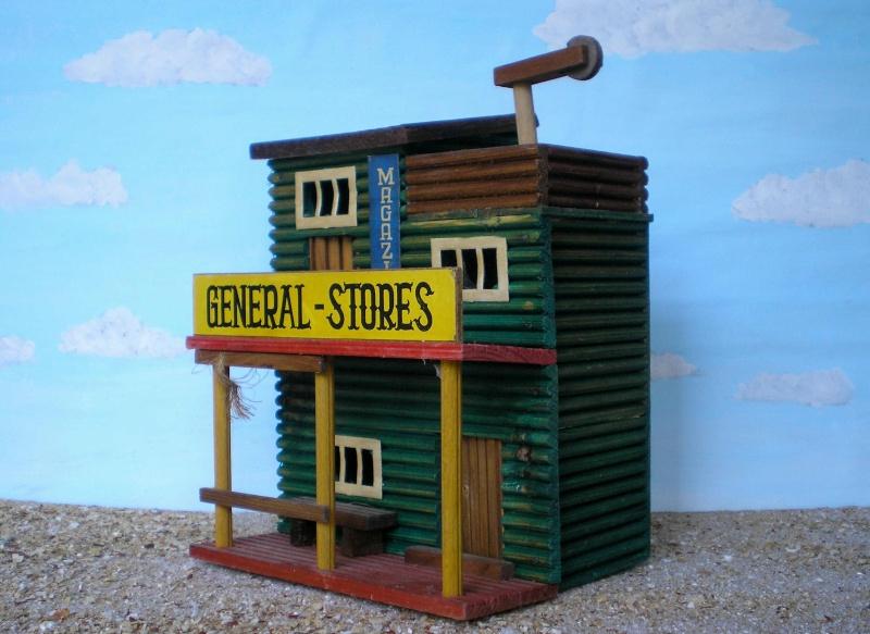 Wildwest-Gebäude aus Holz für Figuren von 54 bis 70 mm Vero_a24