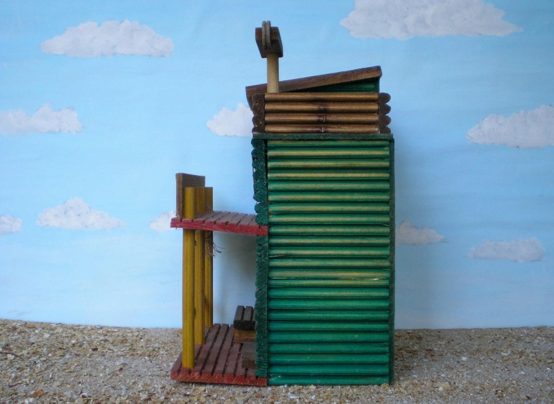 Wildwest-Gebäude aus Holz für Figuren von 54 bis 70 mm Vero_a25