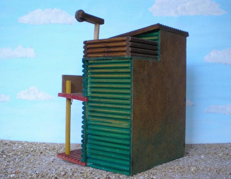 Wildwest-Gebäude aus Holz für Figuren von 54 bis 70 mm Vero_a26