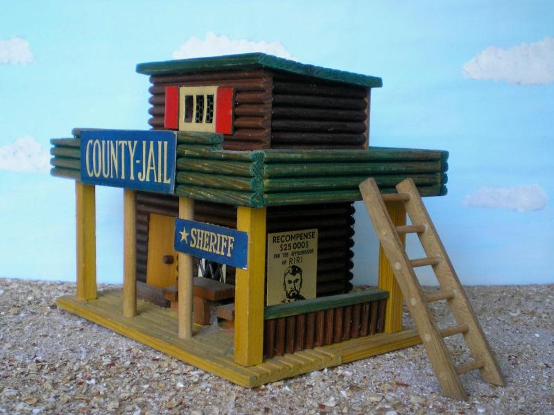 Wildwest-Gebäude aus Holz für Figuren von 54 bis 70 mm Vero_c12
