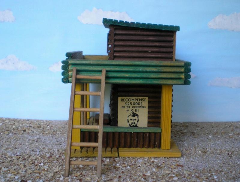 Wildwest-Gebäude aus Holz für Figuren von 54 bis 70 mm Vero_c14