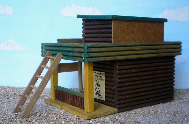 Wildwest-Gebäude aus Holz für Figuren von 54 bis 70 mm Vero_c15