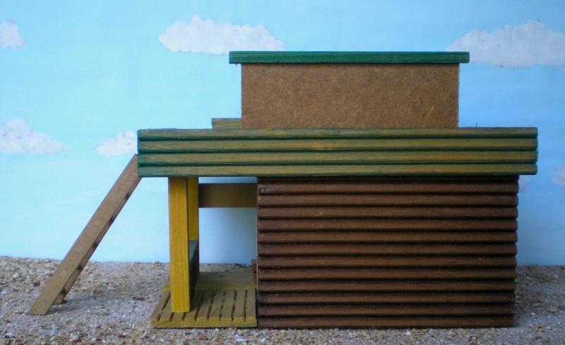 Wildwest-Gebäude aus Holz für Figuren von 54 bis 70 mm Vero_c16