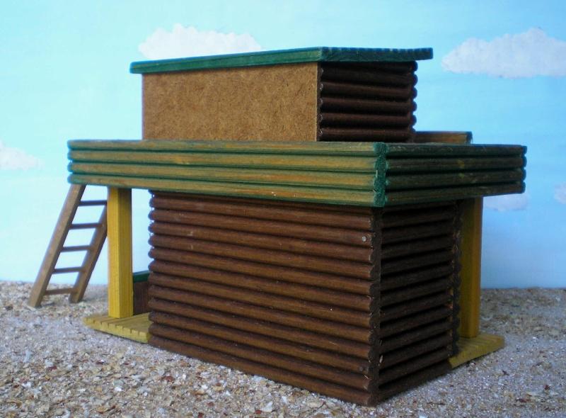 Wildwest-Gebäude aus Holz für Figuren von 54 bis 70 mm Vero_c17