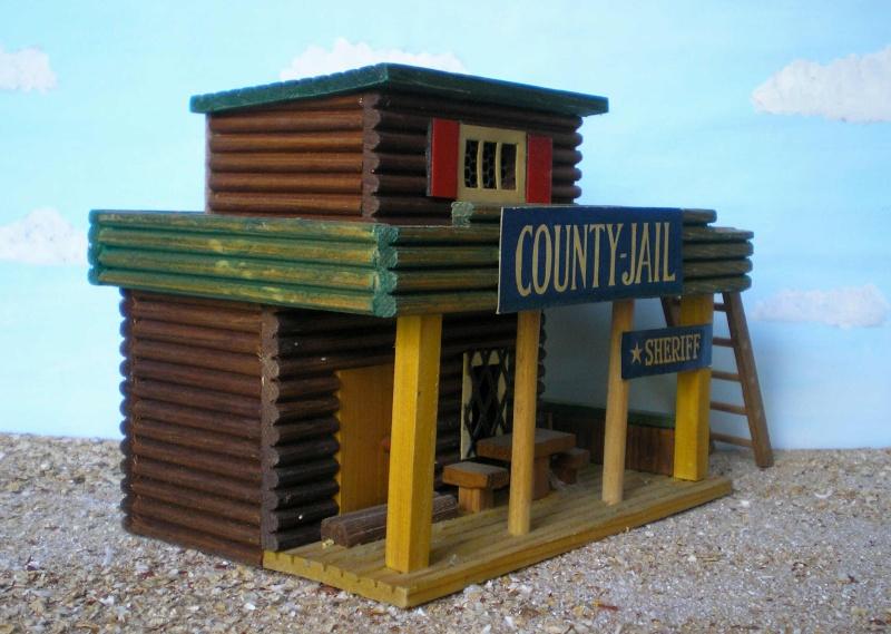 Wildwest-Gebäude aus Holz für Figuren von 54 bis 70 mm Vero_c19