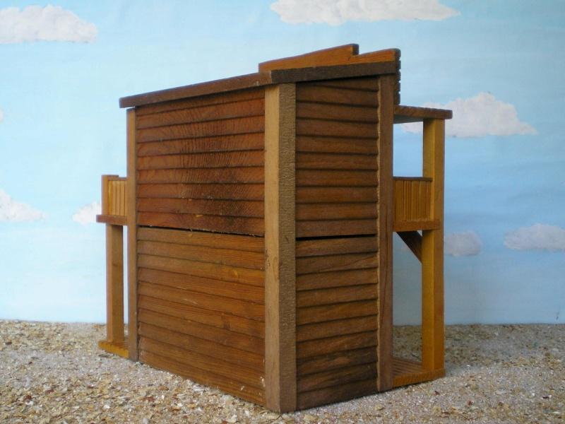 Wildwest-Gebäude aus Holz für Figuren von 54 bis 70 mm Vero_s17