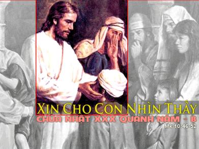 Chúa Nhật 30 Thường Niên Năm B Phụng Vụ Lời Chúa (25.10.2015) Cn-30-10