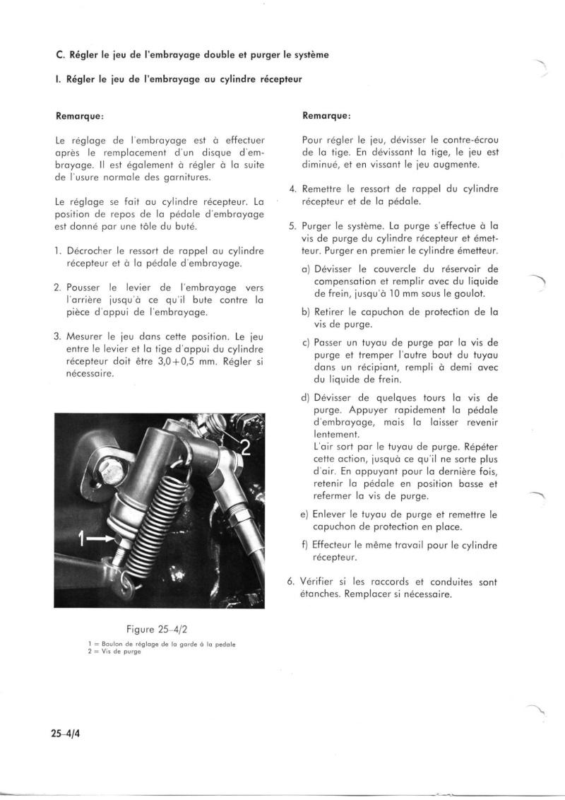 embrayage 421 fuite d' huile ,reglage embrayage double Unimog16