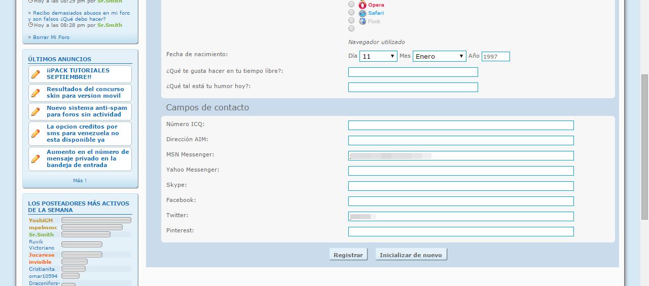 ¿Por qué no puedo cambiar el link a mi foro en mi perfil? Captur15