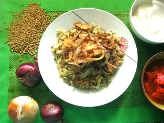 - Мджеддара- арабский рис м коричневой чечевицей и хрустящим луком. Видео Img_5513