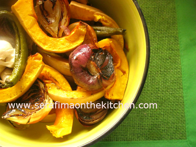 тыква - Тыква запеченная с овощами в духовке Tikwa10
