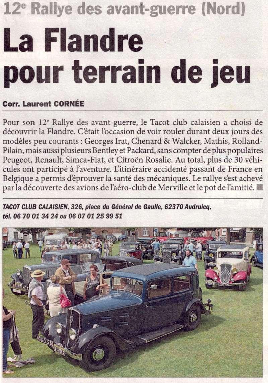 12ème Rallye des avant-guerre (Nord) : Marie-Thérèse joue les stars... 601_bo10
