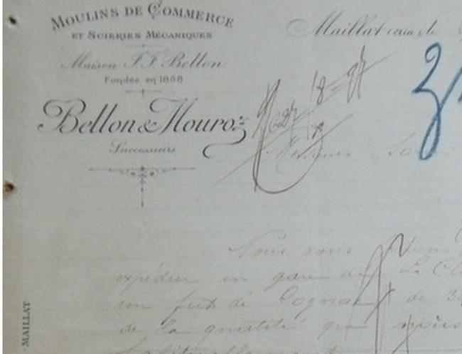 """Ain - Plomb de scelle """"Bellon a Maillat"""". Bellon10"""