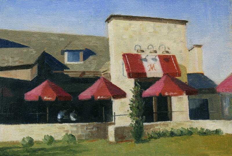 Painting #119: La Madeline restaurant in Allen, Texas La_mad11