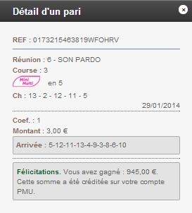 Compte Pmu De Mr Serge Goichon. 14_211