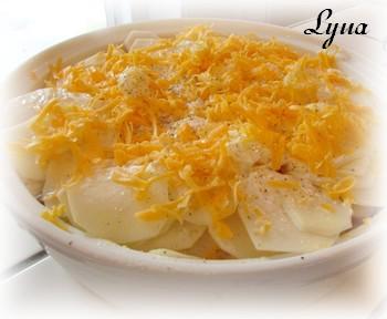 Gratin de pommes de terre au fromage Gratin10