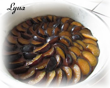 Gâteau renversé aux prunes Gyteau11
