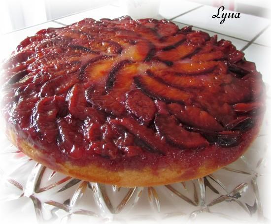 Gâteau renversé aux prunes Gyteau13
