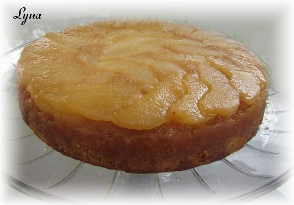 Gâteau renversé aux poires Gyteau21
