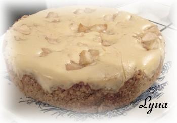 Gâteau au fromage, pommes et caramel Gyteau23