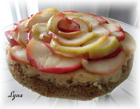 Gâteau au fromage, pommes et caramel Gyteau24