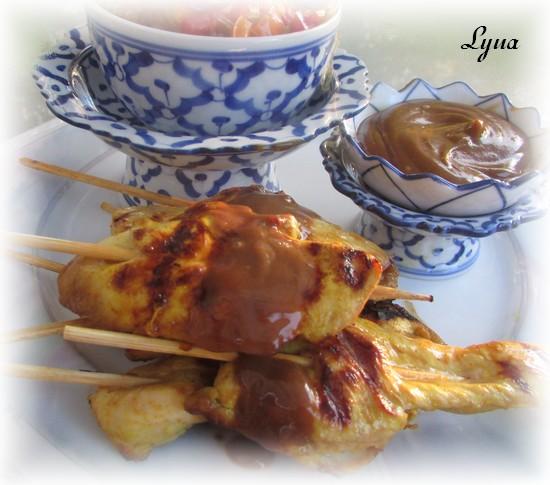 Brochettes satay, sauce aux arachides Satay310