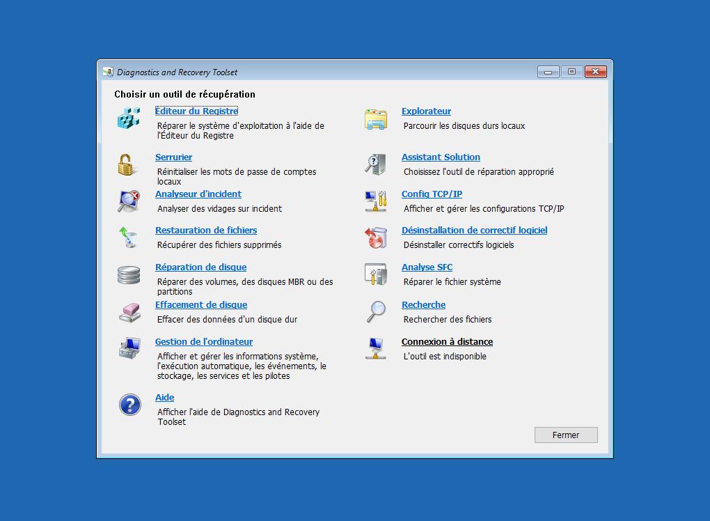 Microsoft  Diagnostics and Recovery Toolset (DaRT) Image110