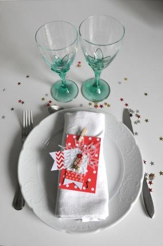 """3 décembre: tag """"cadeau d'assiette/étiquette cadeau/marque place""""  Tag_ma10"""