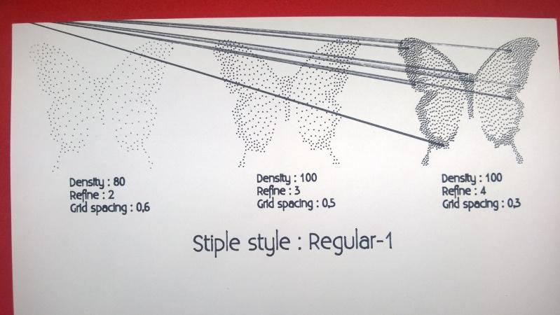 Silhouette Curio - 1er essai en vidéo du menu Pointillés (Stippling) Wp_20114