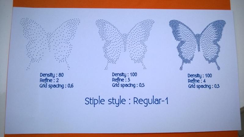 Silhouette Curio - 1er essai en vidéo du menu Pointillés (Stippling) Wp_20115