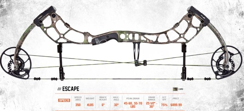 BEAR ARCHERY 2016 Escape12