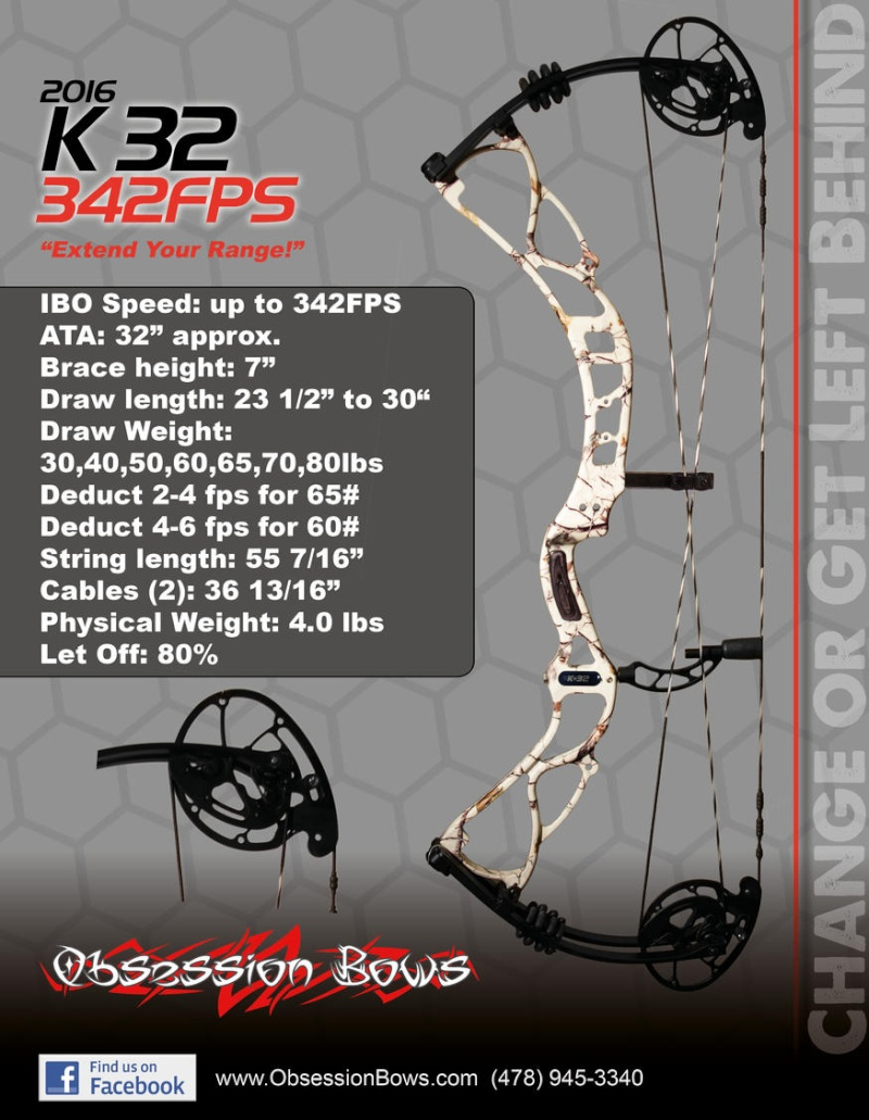 OBSESSION BOWS 2016 K3210